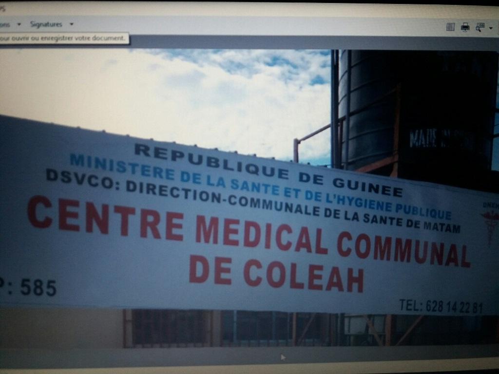 Guinée :le centre médical communal decoleah,unexemplaire à Conakry.
