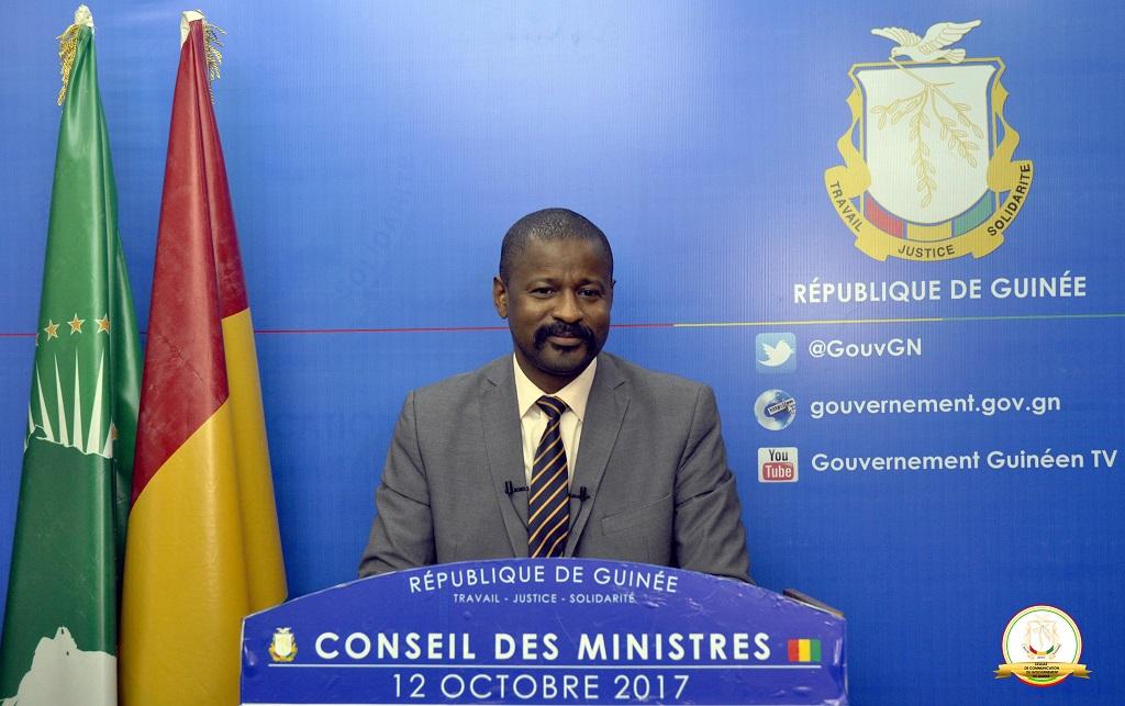 Guinée: COMPTE RENDU DU CONSEIL DES MINISTRES DU 12 OCTOBRE 2017