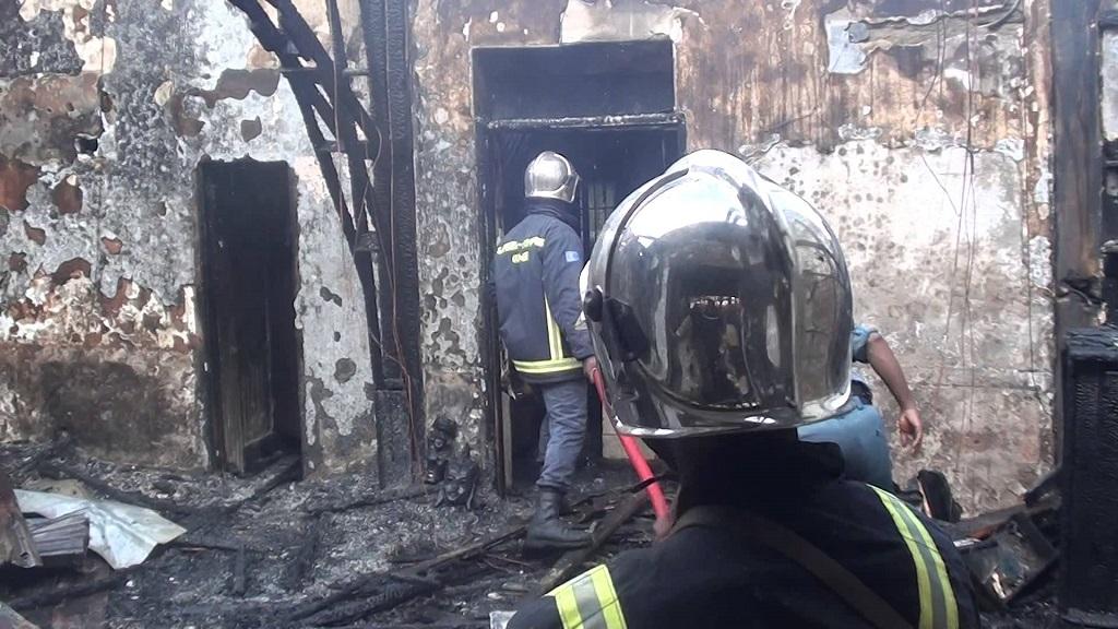 L'Office National des Pétroles (ONAP): un feu s'est déclenché dans un Dépôt clandestin dans la cour de Russal…