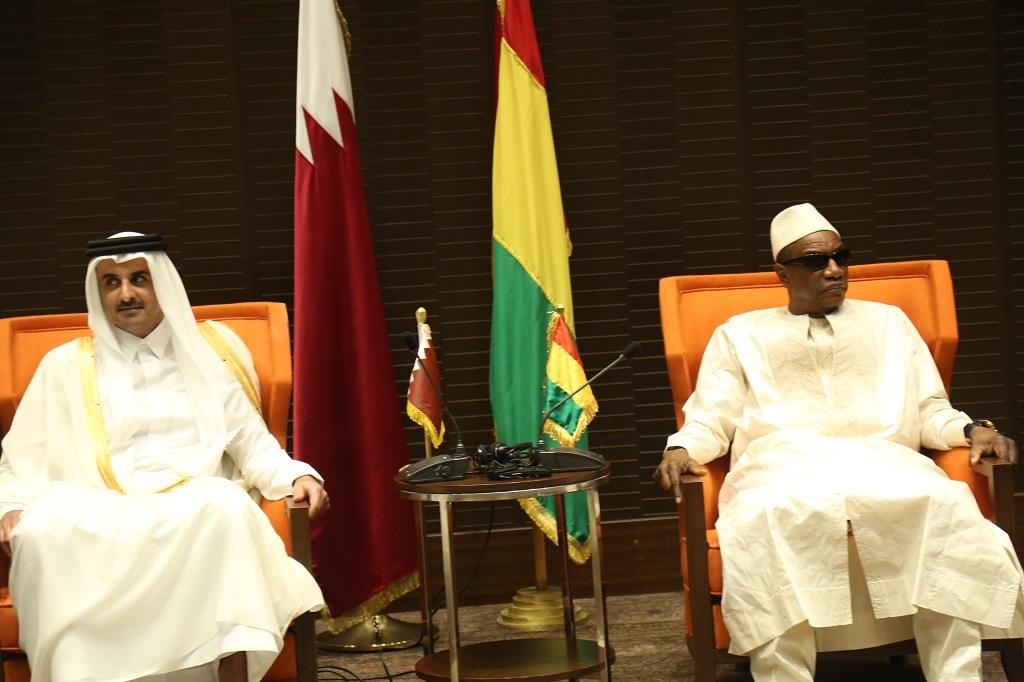 Visite de l'Emir du Qatar à Conakry: Sept accords de coopération signés