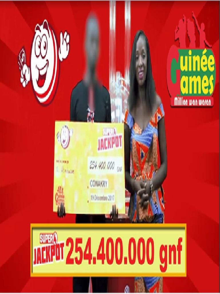 Le nouveau SUPER 4 JACKPOT de Guinée Games récompense ses premiers parieurs !