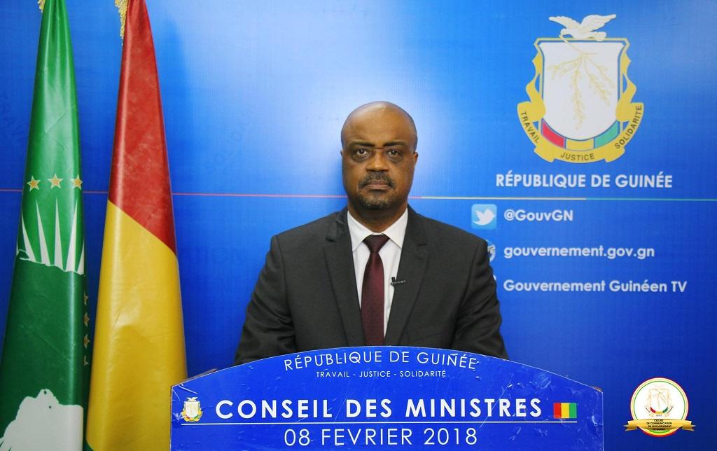 Guinée: Compte-rendu du Conseil des ministres du  8 février 2018