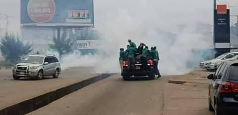 Situation de la marche dite pacifique de l'opposition selon le gouvernement