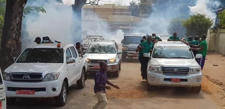 Répression violente de la manifestation de l'opposition républicaine (UFDG)