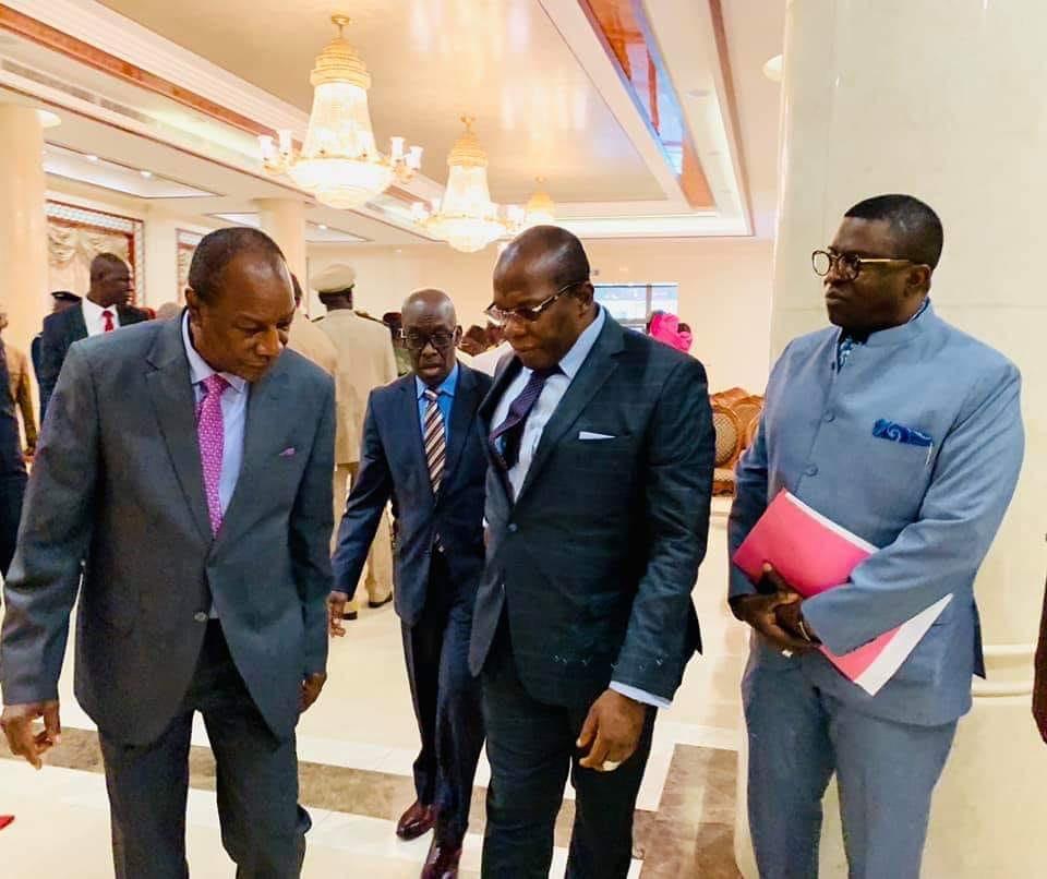 Sékhoutouréya   Les diplomates et les institutions présentent leurs voeux au Président Alpha Condé