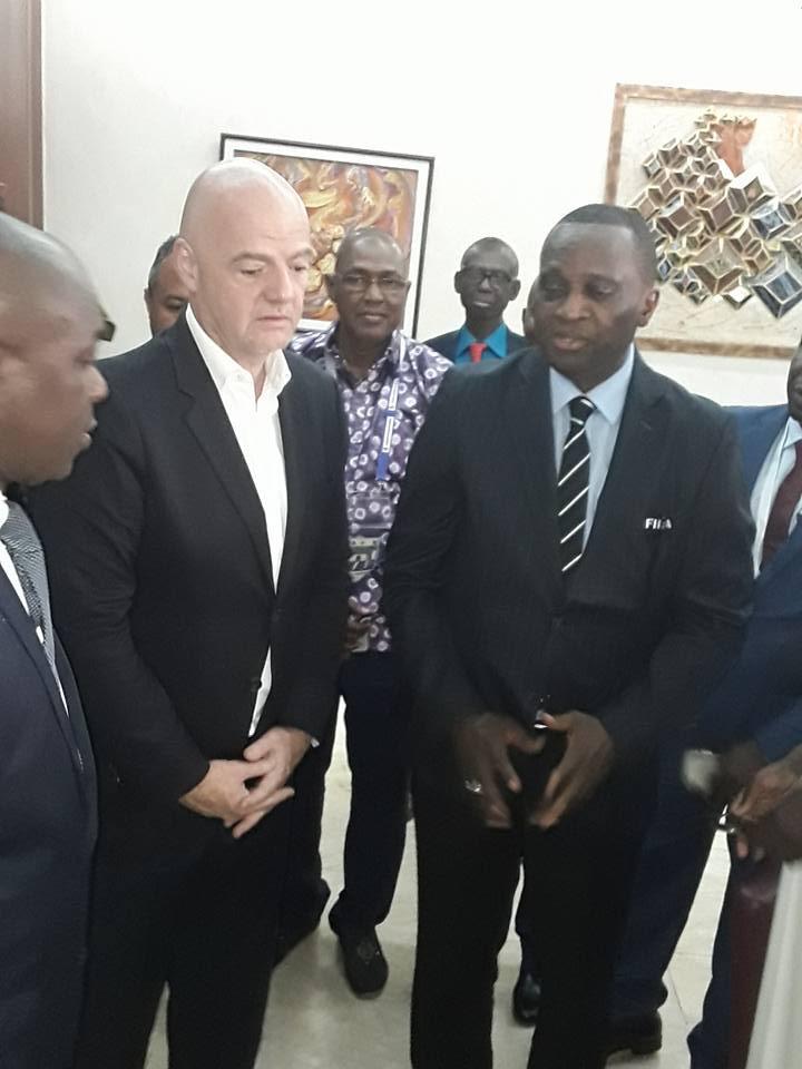 Le président de la FIFA à Conakry…