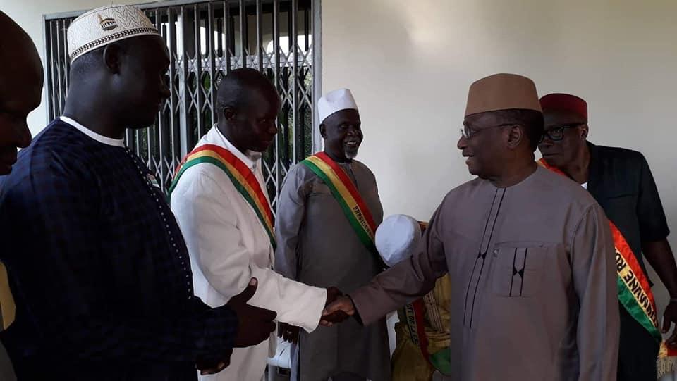 Des maires de l'UFR reçus par le président Sidya Touré à sa résidence de la minière