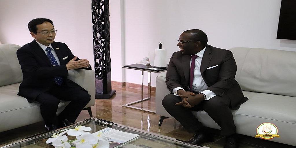 Ibrahima Kassory Fofano reçoit le nouvel Ambassadeur du Japon en audience