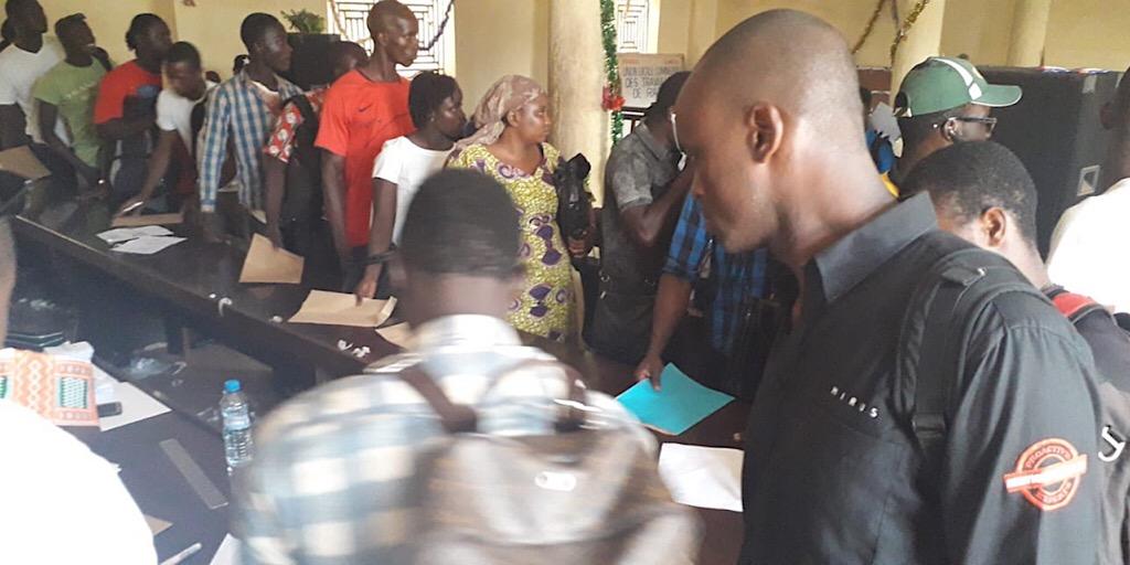 L'opération de réception des dossiers de candidature se déroule normalement et dans de très bonnes conditions.