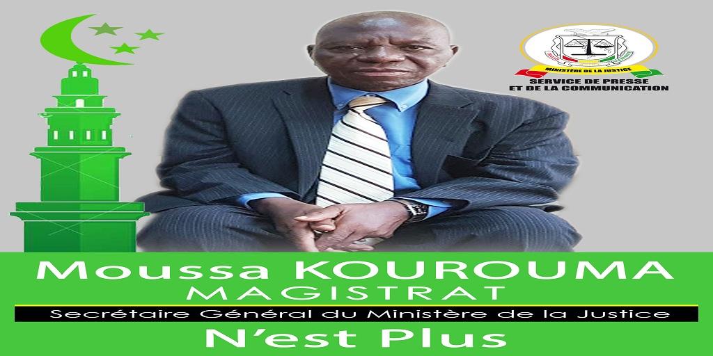 Moussa KOUROUMA, secrétaire général du Ministère de la Justice n'est plus!