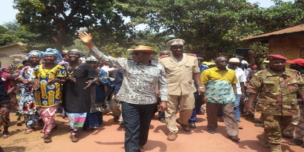 MATD : le ministre Bouréma Condé auprès des 983 déplacés sierra-léonais à Benty