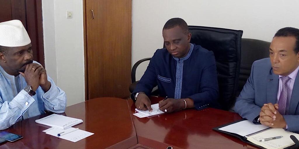 Vers la mise en œuvre de la compagnie Guinea Airlines: Le Ministre d'Etat reçoit les partenaires du projet!