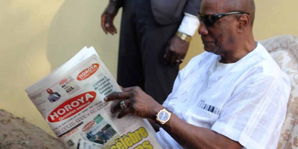 An 58 du journal Horoya : Le président Alpha Condé annonce une somme de deux milliards fg pour le Horoya et l'AGP