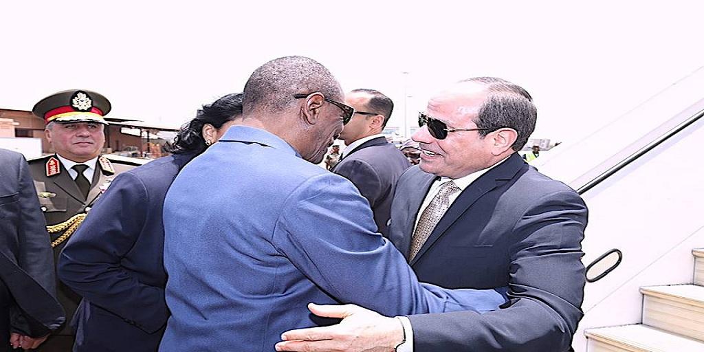 VISITE D'ETAT DU PRESIDENT EGYPTIEN: Communiqué conjoint
