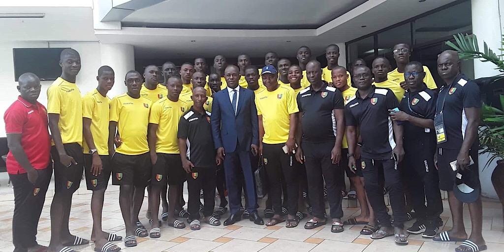CAN U17 Tanzanie 2019 : le vice – Président Amadou Diaby rend visite à l'Équipe