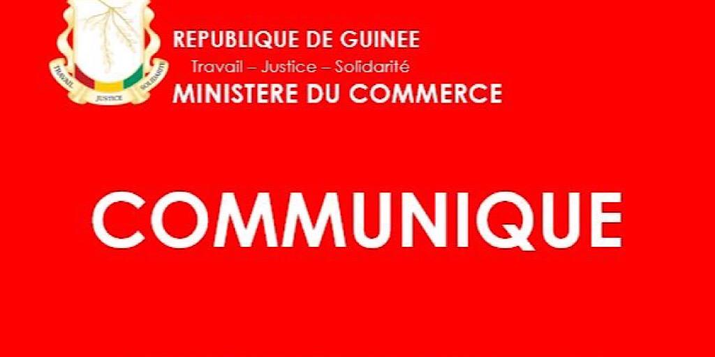 Ministère du Commerce : Communiqué relatif au lancement de la campagne de contrôle systématique des produits alimentaires sur le marché