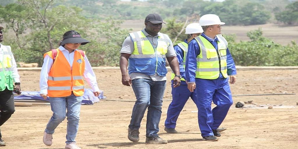 Construction de la route nationale N°1 COYAH- Mamou-Dabola / Visite de terrain du ministre des TP