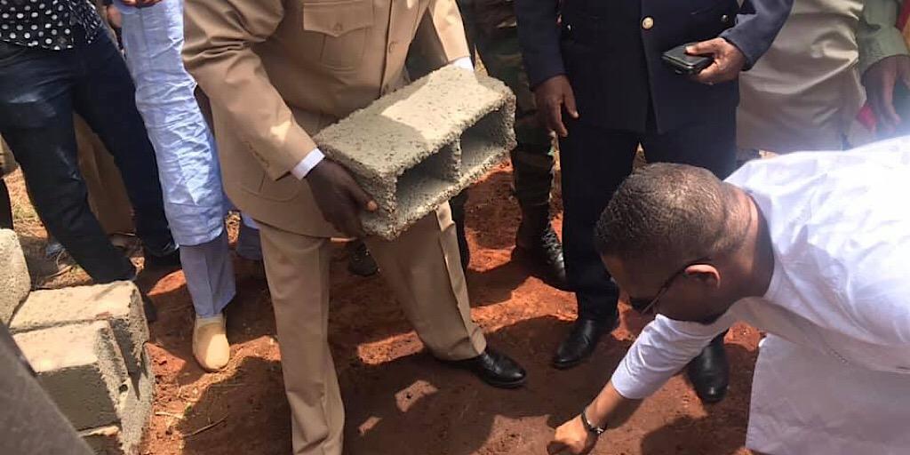 MIC-ANAFIC : Pose de la première pierre de plusieurs infrastructures de bases dans la sous-préfecture de Bintimodia
