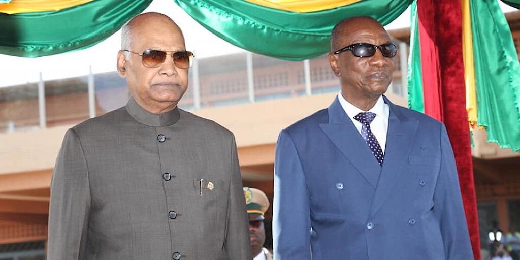 Guinée / Ram Nath Kovind à Conakry (images)