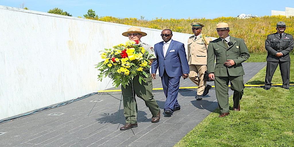 Le Président de la République, le professeur Alpha Condé a assisté au Flight National 93 Mémorial à Pittsburgh dans l'État de Pennsylvanie.