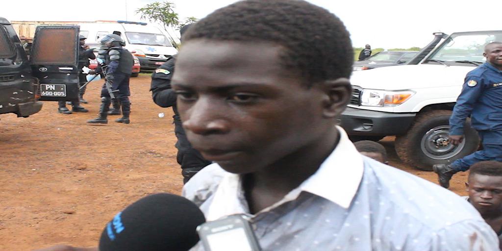 CRISE A CONAKRY : Un jeune manifestant déclare avoir reçu de l'argent pour incendier les PA
