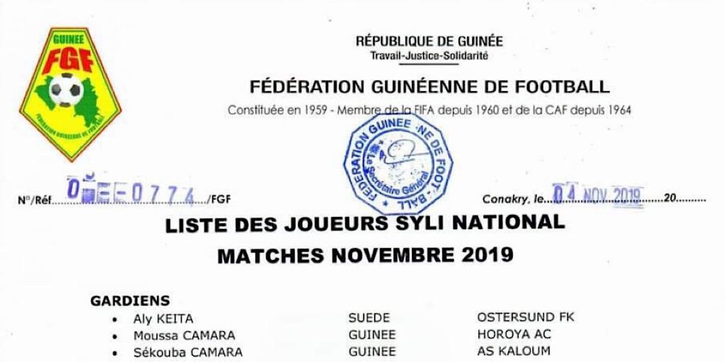 Football/La liste des joueurs convoqués pour les deux premiers matchs des eliminatoires de la CAN