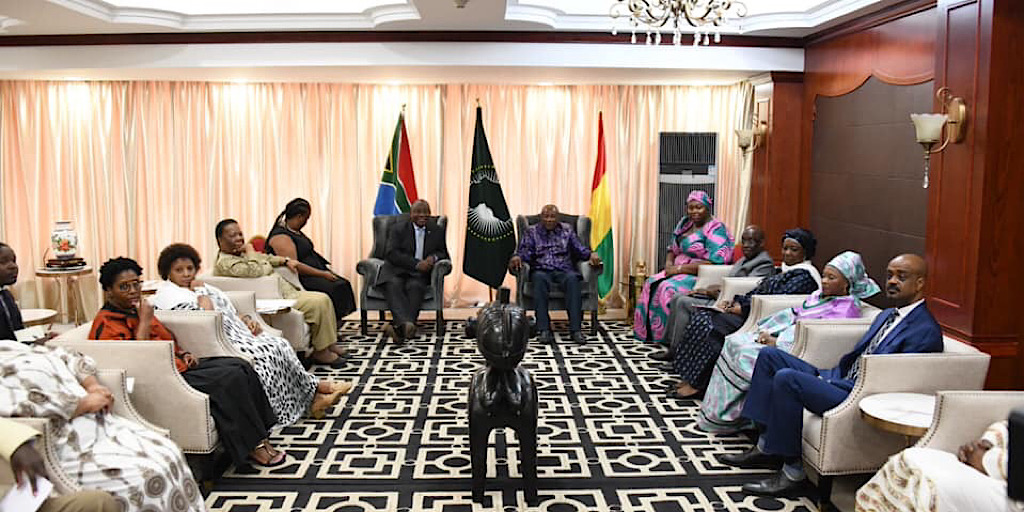 Visite de travail du président Cyril Ramaphosa en Guinée