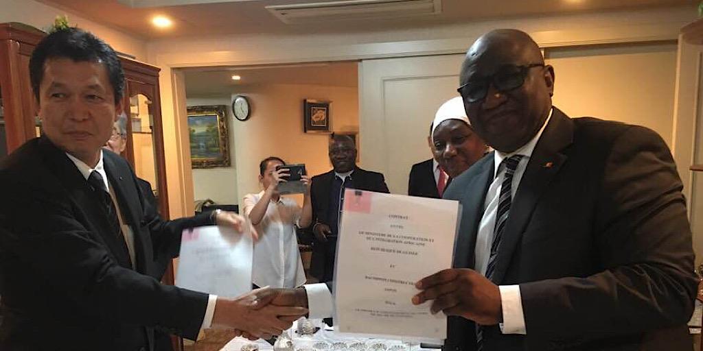 MPAEM : TOKYO, signature de contrat entre les Gouvernements guinéen et Japonais
