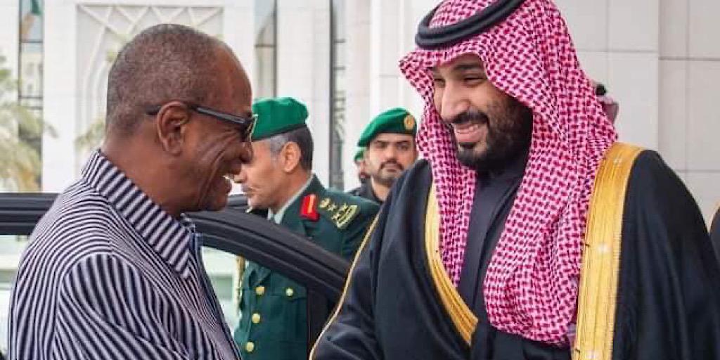 Pr Alpha Condé reçu par le prince Mohammed ben Salmane Al Saoud d'Arabie Saoudite